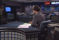 pictue of David at CNN DC bureau news desk